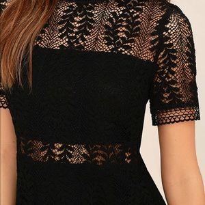 MINKPINK Dresses - MinkPink Tell Tale Black Lace Dress 99105bb90